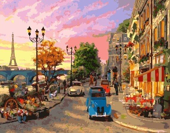 Картина по номерам GX 9164 Улочки Парижа 40х50 см