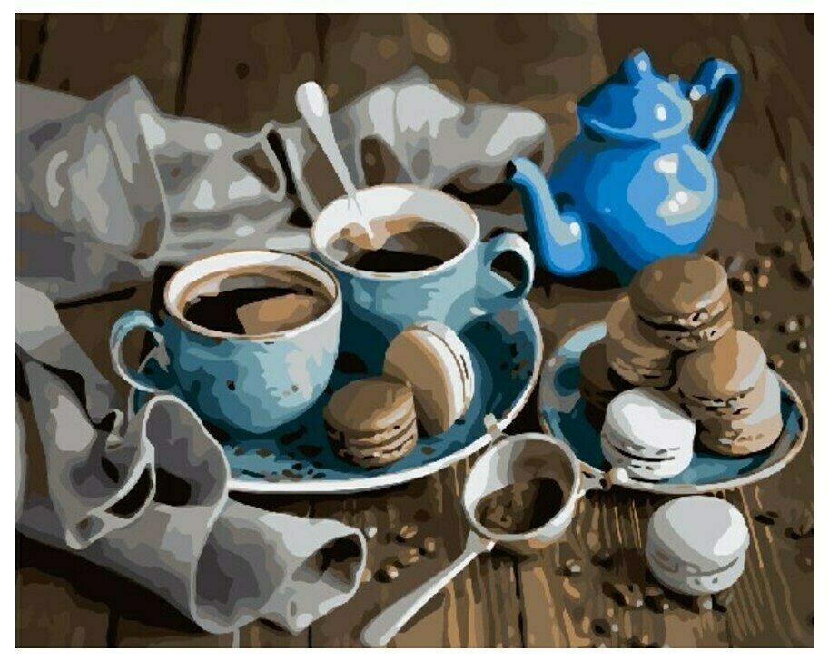 Картина по номерам GX 9494 Кофейная пара 40*50