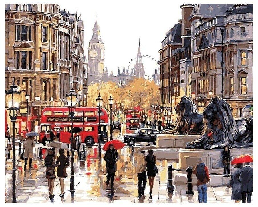 Картина по номерам GX 9795 Лондонская улица 40*50
