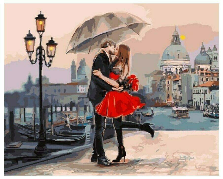 Картина по номерам GX 9991 Свидание В Венеции 40*50
