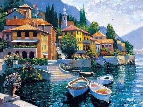 """Картина по номерам Paintboy GX6849 """"Альпийский городок"""" 40х50см"""