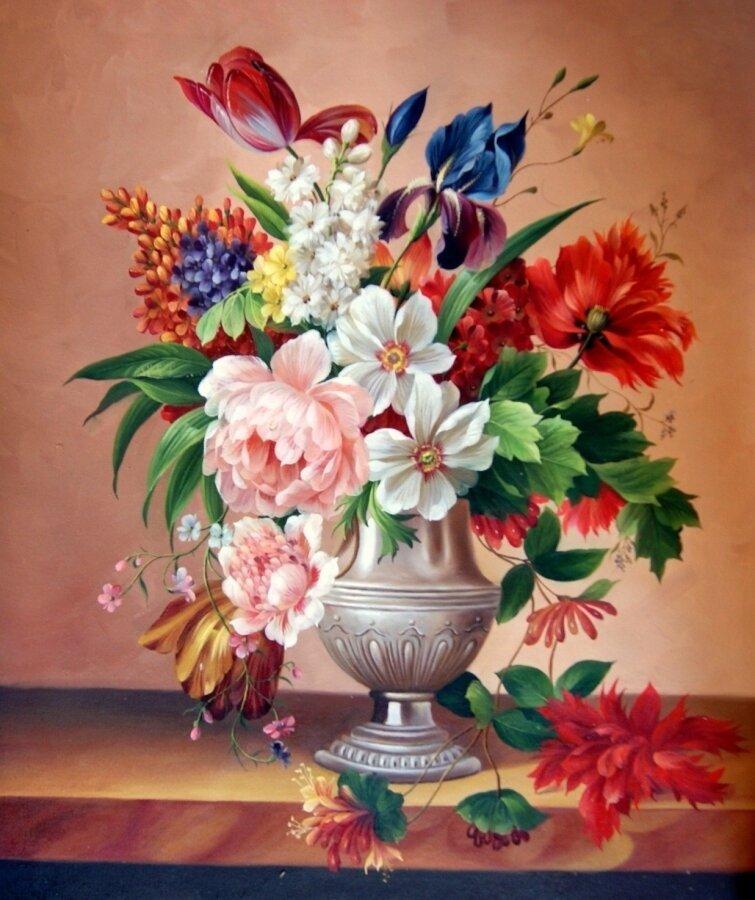 """Картина по номерам Paintboy GX7292 """"Цветочный восторг"""" 40х50см"""