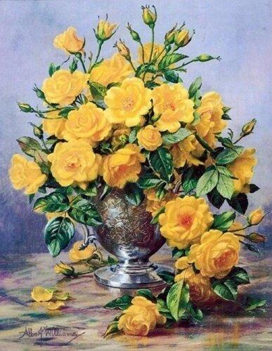 """Картина по номерам Paintboy GX7530 """"Чайные розы"""" 40х50см"""
