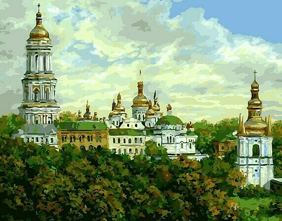 "Картина по номерам Paintboy GX8292 ""Церковные купола"" 40х50см"