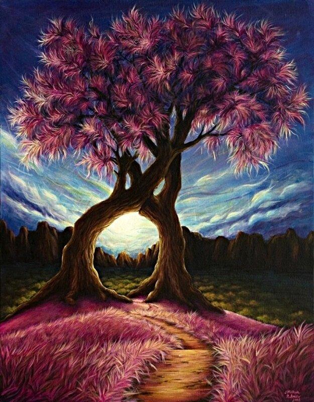 """Картина по номерам Paintboy GX8326 """"Тропа под деревьями"""" 40х50см"""