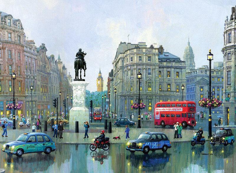 "Картина по номерам Paintboy GX8965 ""Площадь в Лондоне"" 40х50см"