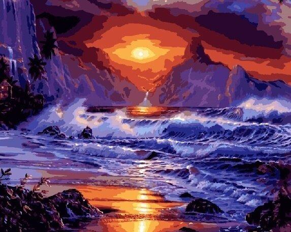 "Картина по номерам Paintboy GX9043 ""Закат на горами"" 40х50см"