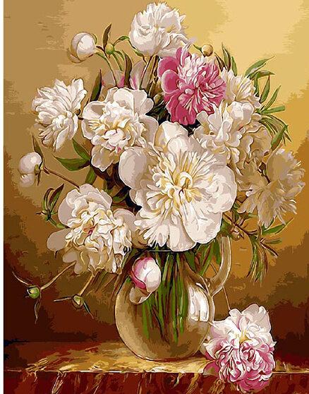 """Картина по номерам Paintboy GX9261 """"Обычный букет цветов"""" 40х50см"""