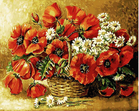 "Картина по номерам Paintboy GX9390 ""Корзина цветов"" 40х50см"