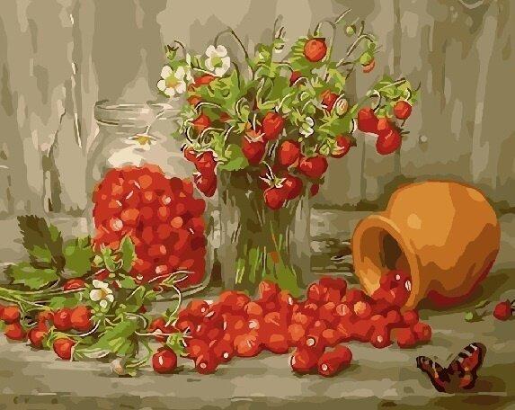 "Картина по номерам Paintboy GX9419 ""Ягоды"" 40х50см"