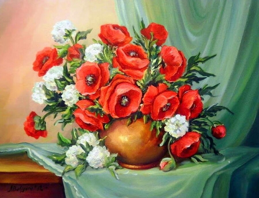 "Картина по номерам Paintboy GX9422 ""Цветы"" 40х50см"