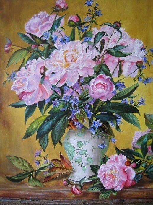 "Картина по номерам Paintboy GX9434 ""Букет в вазе"" 40х50см"