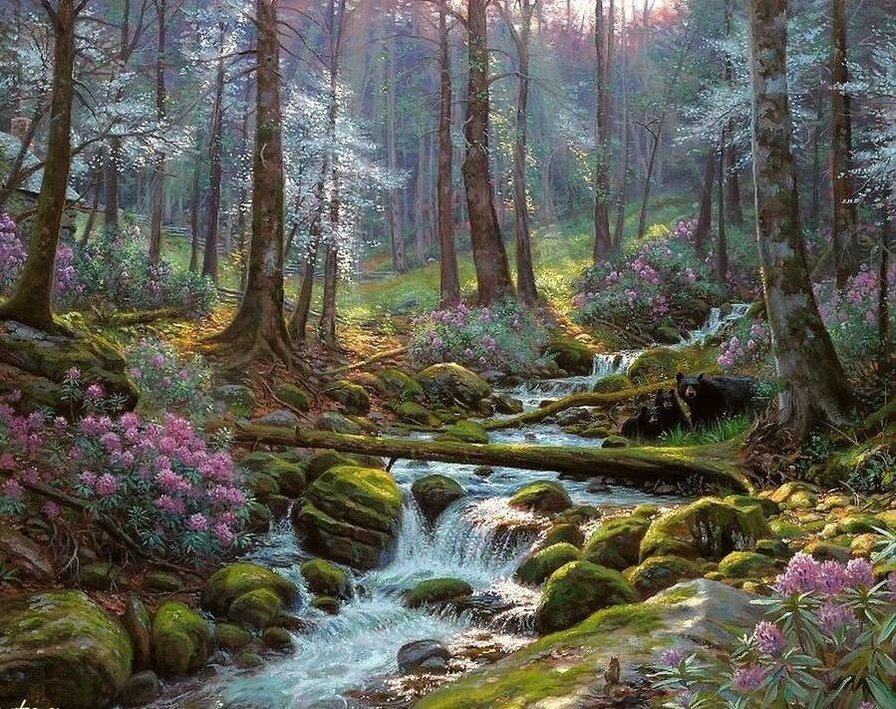 """Картина по номерам Paintboy GX9526 """"Речка в лесу"""" 40х50см"""