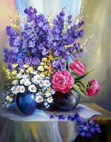 """Картина по номерам Paintboy GX9561 """"Цветочный натюрморт"""" 40х50см"""