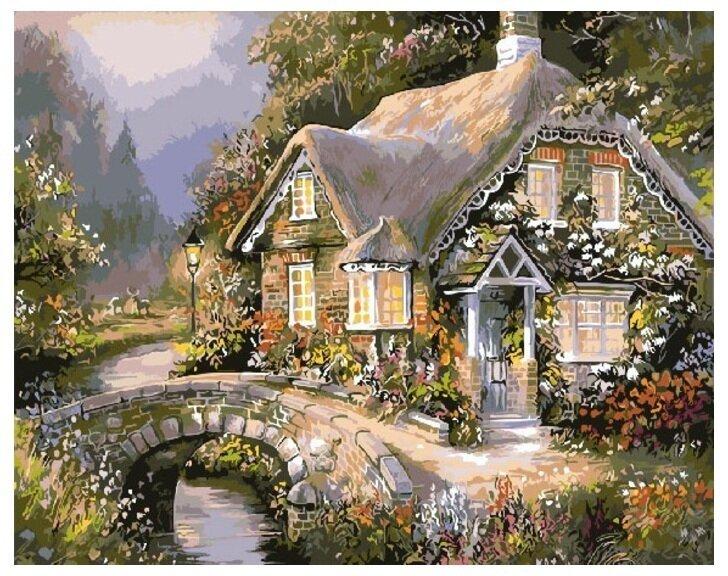 Картина по номерам Paintboy Original Весенний домик 40х50
