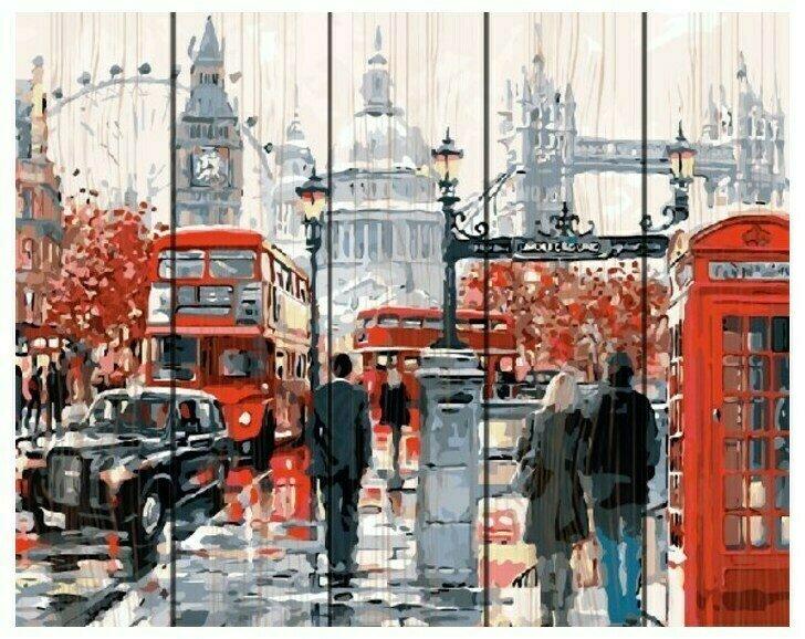 Картина по номерам Paintboy Original Дождливый Лондон 40х50