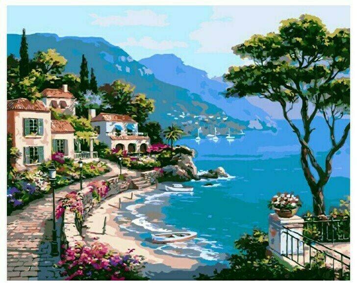 Картина по номерам Paintboy Original Морской пейзаж 40х50