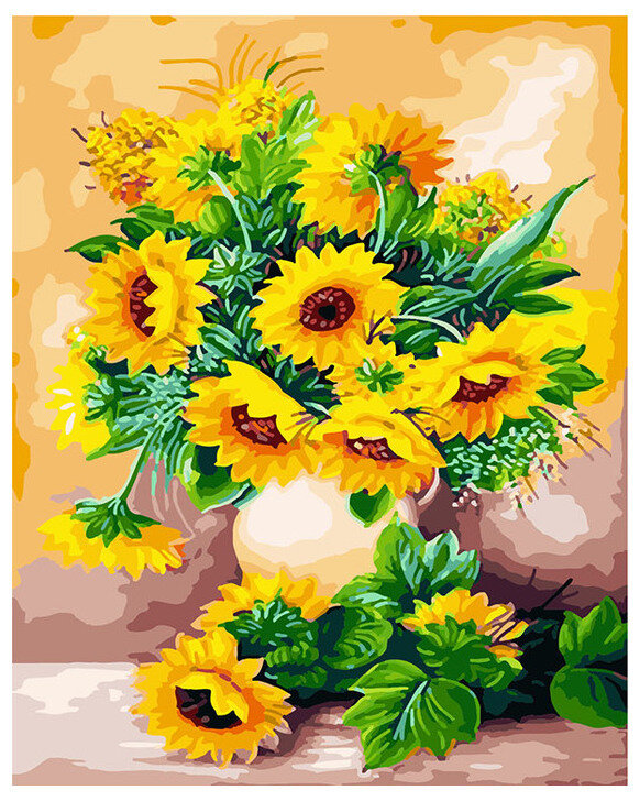Картина по номерам Paintboy Original Солнечный букет 40х50