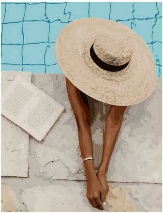 Картина по номерам PK68025 Спокойный отдых у бассейна 40х50см