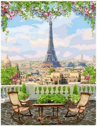 Картина по номерам PK68026 Парижская веранда 40х50см