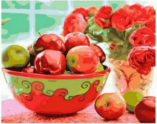 Картина по номерам PK68030 Яблочный урожай 40х50см
