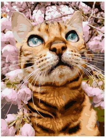 Картина по номерам PK68044 Весенняя прогулка кота 40х50см
