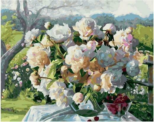 Картина по номерам PK68048 Букет в летнем саду 40х50см