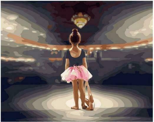 Картина по номерам PK68050 Юная балерина 40х50см