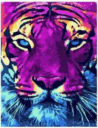 Картина по номерам PK68063 Ярый тигр 40х50см