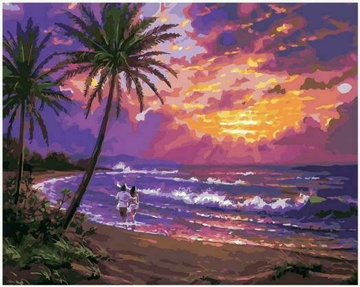 Картина по номерам PK68066 Теплый облачный закат 40х50см