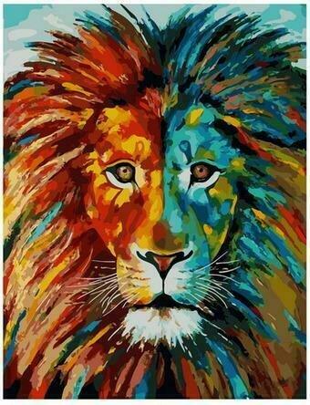 Картина по номерам PK68070 Особенный лев 40х50см