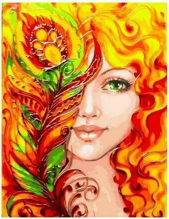 Картина по номерам PK68089 Огненное очарование (Захваткина Екатерина) 40х50см