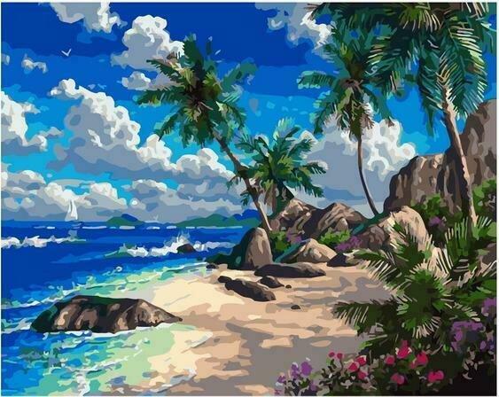 Картина по номерам PK72003 Тропический пляж 40х50см