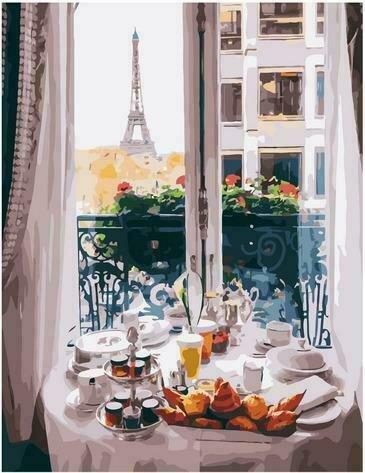 Картина по номерам PK72009 Сытный французский обед 40х50см