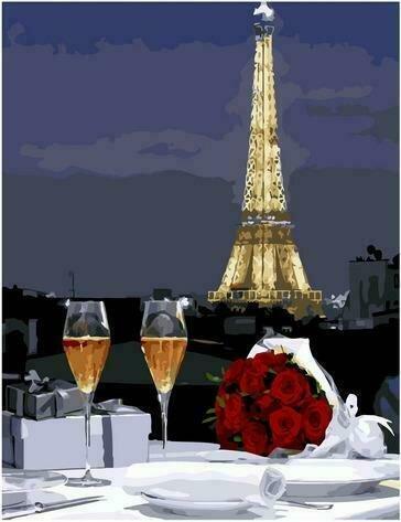 Картина по номерам PK72015 Романтический ужин 40х50см