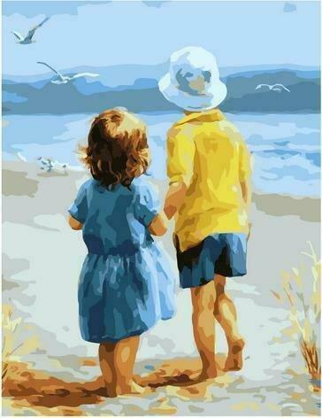 Картина по номерам PK72020 Брат и сестра 40х50см
