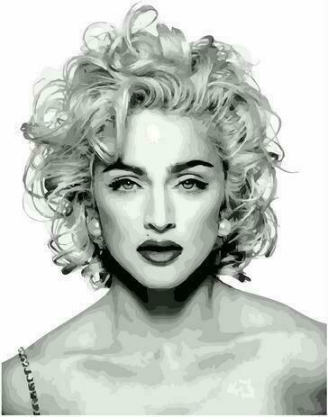 Картина по номерам PK72032 Мадонна 40х50см