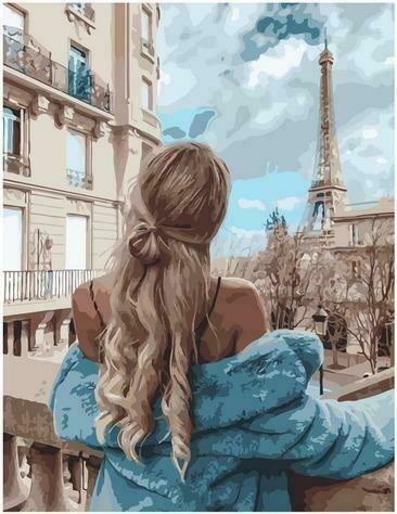 Картина по номерам PK72046 Осень по-французски 40х50см