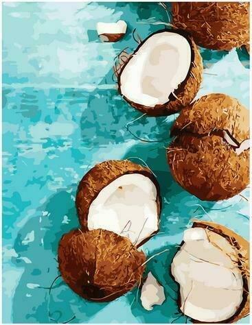 Картина по номерам PK72049 Сладкие кокосы 40х50см