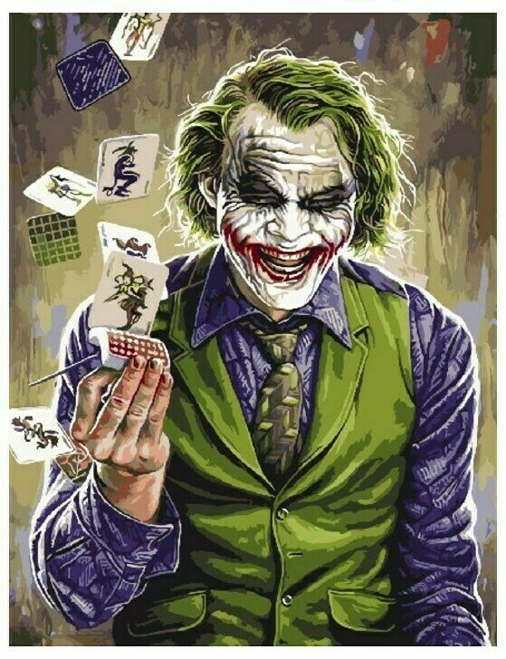 """Картина по номерам """"Джокер"""" 40х50см"""