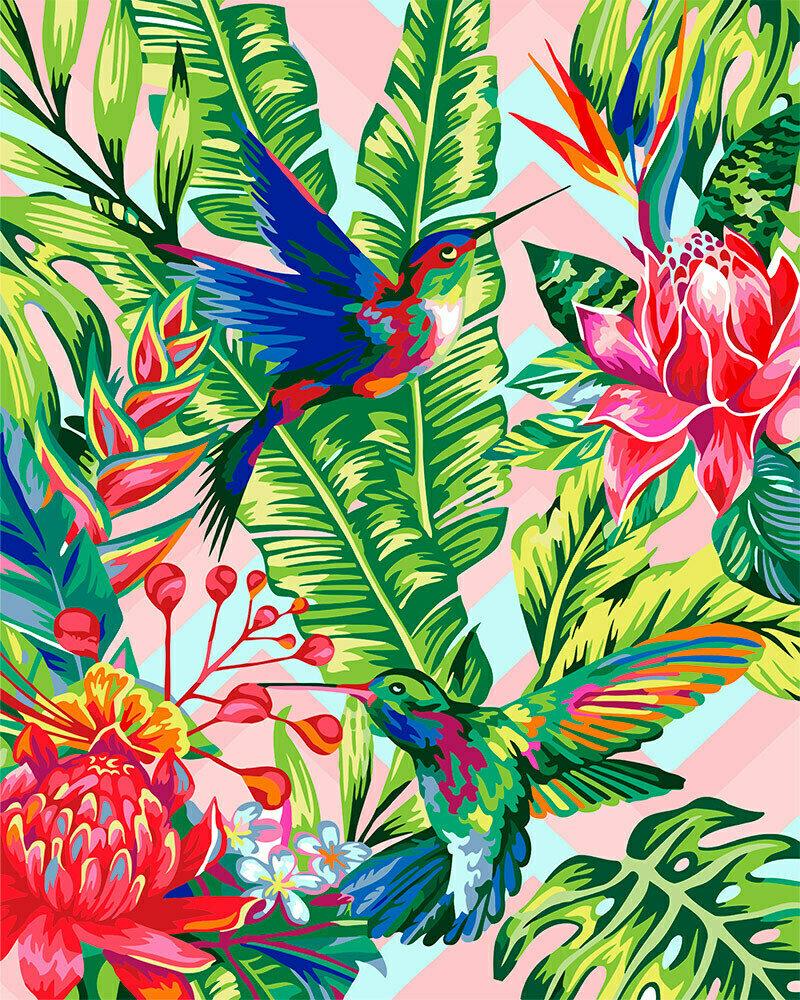 "Картина по номерам ""Изящные колибри"", 40х50см, ФРЕЯ, PNB/R1 №127"