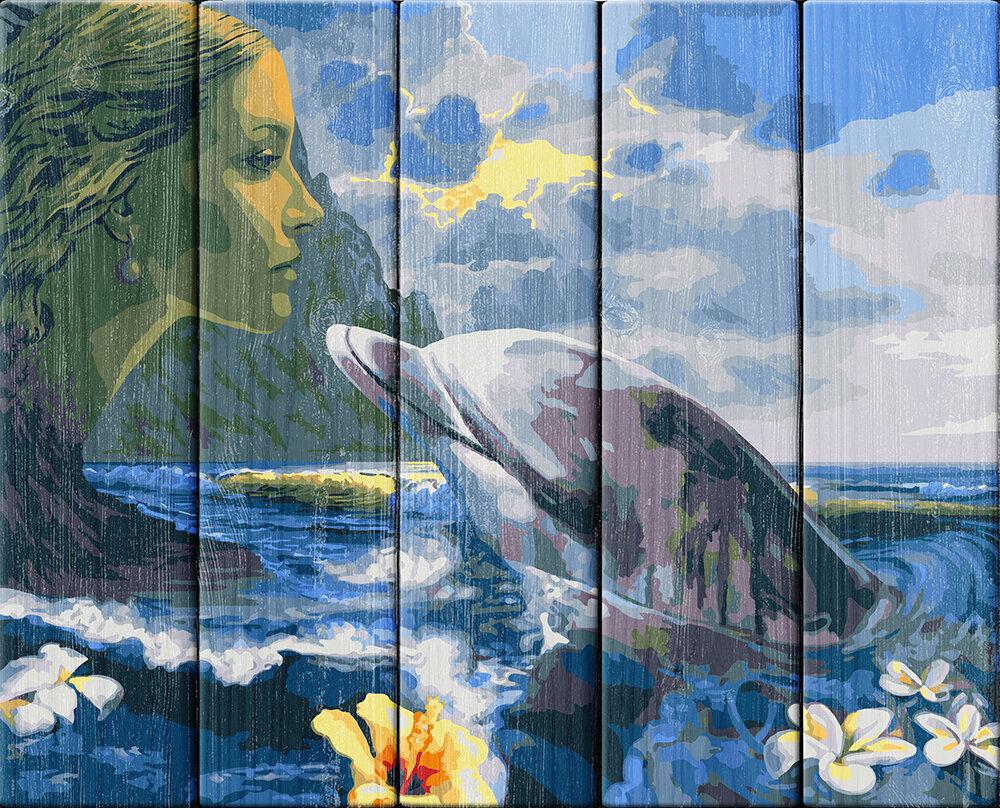 """Картина по номерам по дереву """"Морская стихия"""", 40х50см, ФРЕЯ, PKW-1 85"""