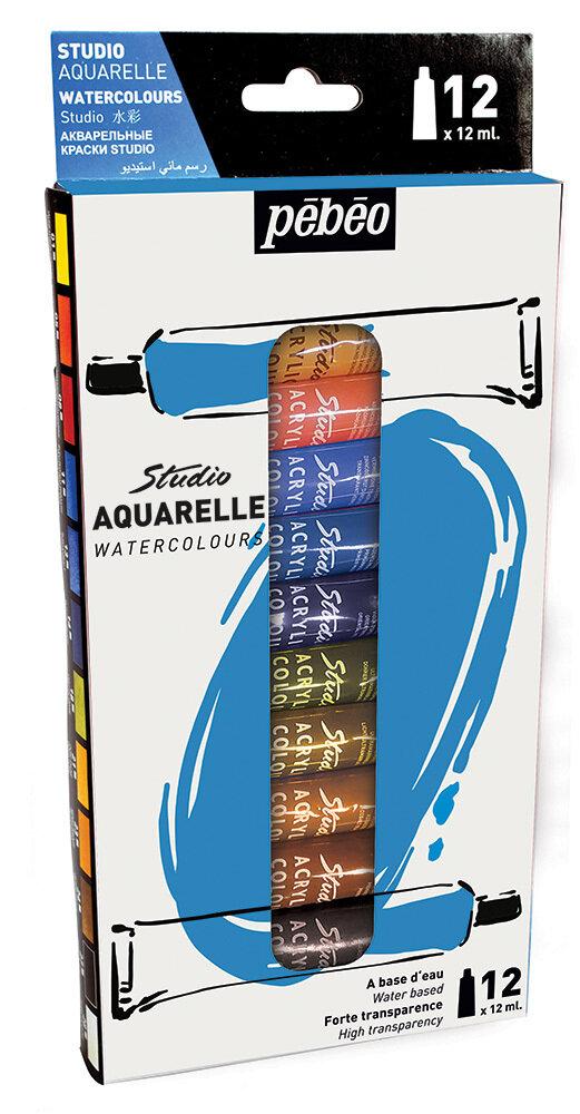 "Краска акварель ""PEBEO"" набор Studio Aquarelle 12 цв. 12 мл"