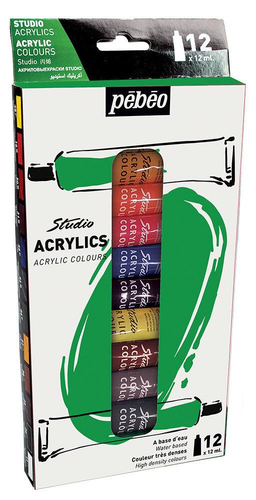 """Краска акриловая """"PEBEO"""" набор Studio Acrylics 12 цв. 12 мл"""