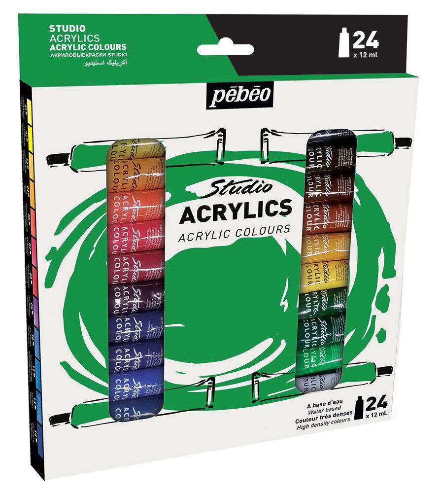 """Краска акриловая """"PEBEO"""" набор Studio Acrylics 24 цв. 12 мл"""