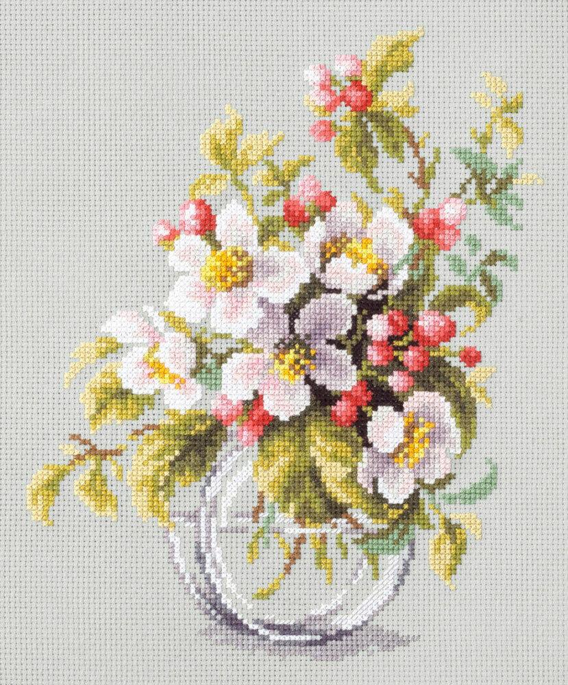 """Набор для вышивания 100-011 """"Яблоневый цвет"""", 18х23см"""