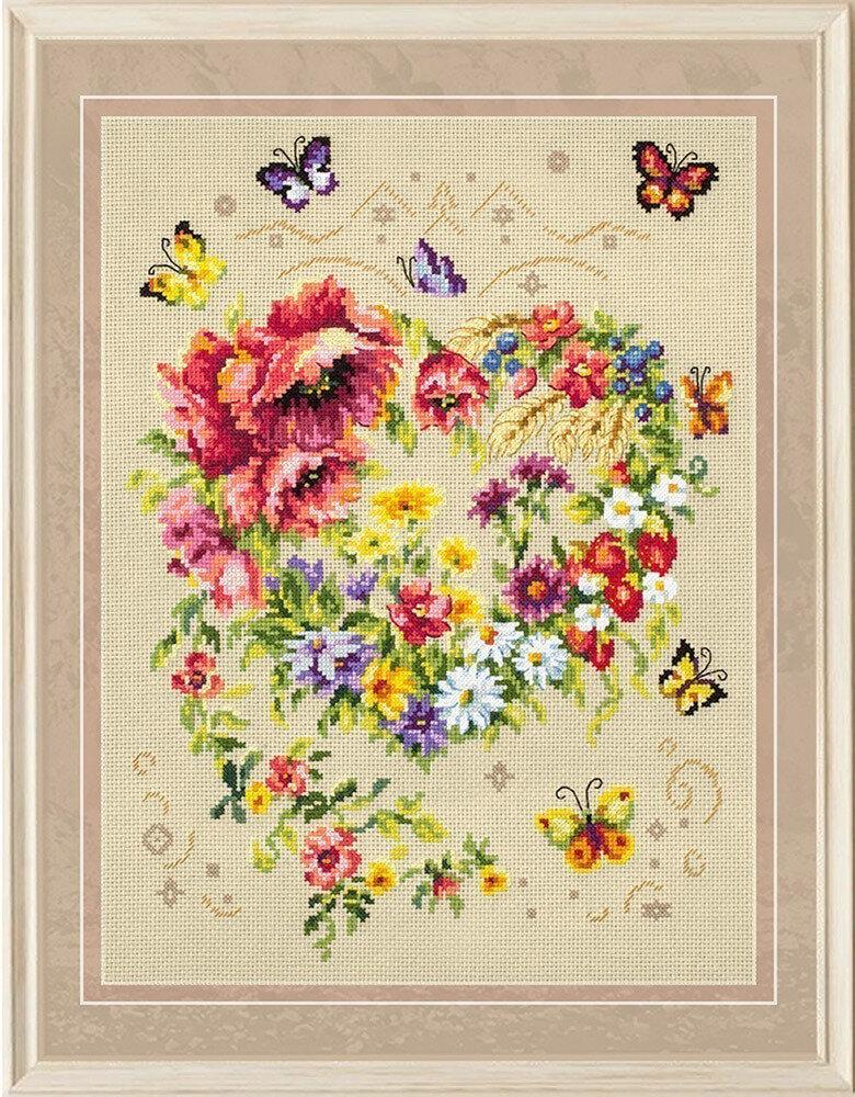 """Набор для вышивания 100-144 """"Сияние сердца"""", 26х34см"""