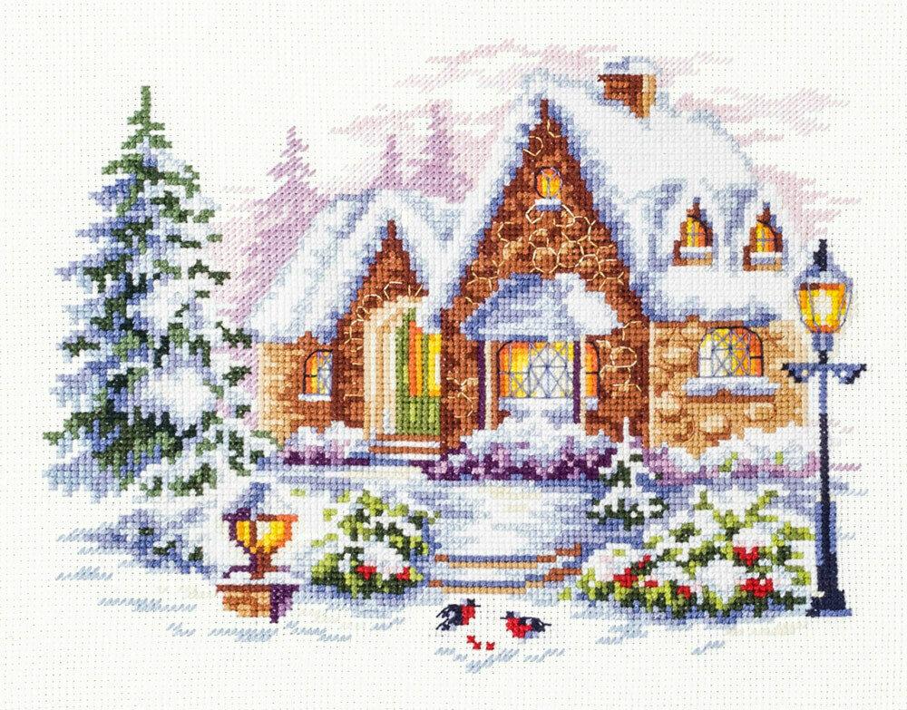 "Набор для вышивания 110-041 ""Зимний домик"", 20х17см"