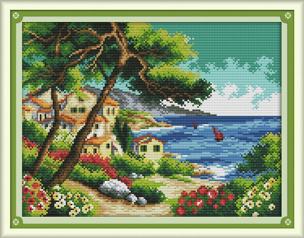 Набор для вышивания F 920 Прибрежный городок 36х29