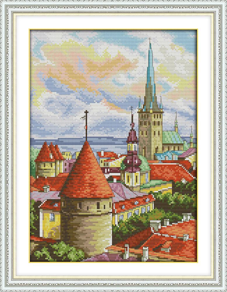 Набор для вышивания F 960 Вид на город 29х38